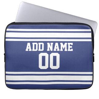 Sportar Jersey med anpassningsbarnamn och numrerar Laptop Sleeve