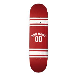 Sportar Jersey med ditt namn och numrerar Old School Skateboard Bräda 21,6 Cm