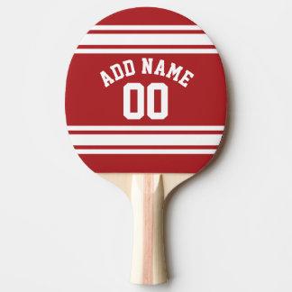 Sportar Jersey med ditt namn och numrerar Pingisracket