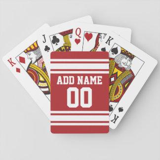 Sportar Jersey med ditt namn och numrerar Spel Kort