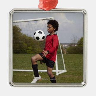 Sportar livsstil, fotboll 6 julgransprydnad metall