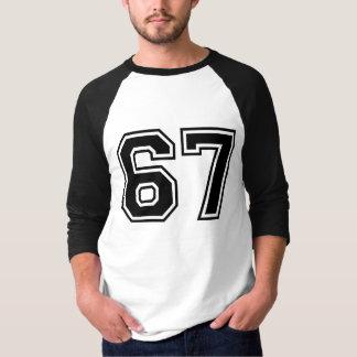 sportar numrerar 67 tee shirts