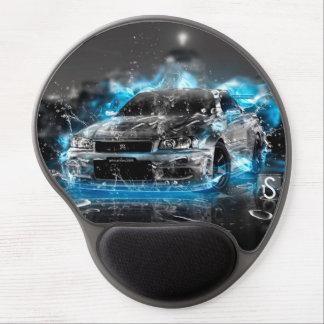 Sportbilen på blått flammar gelen Mousepad Gelé Mus-matta