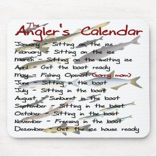 Sportfiskare kalender Mousepad Musmatta