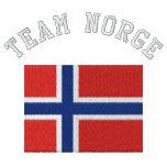 Sportflagga för LAG NORGE Broderade Track Jacket