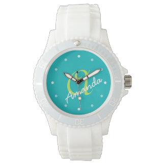 Sportig dampersonligMonogram Armbandsur