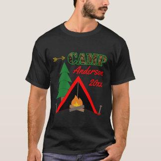 Sportigt campa Campfiretältnamn Tshirts