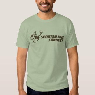 Sportsmans förbinder logotyputslagsplatsen tee shirt