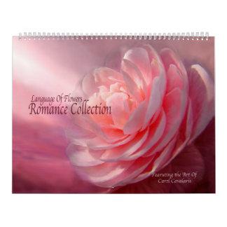 Språk av blommor - romansk samlingskalender kalender