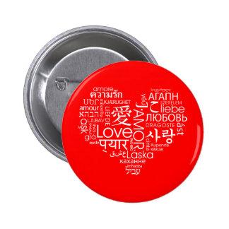 Språk av kärlekhjärta pins