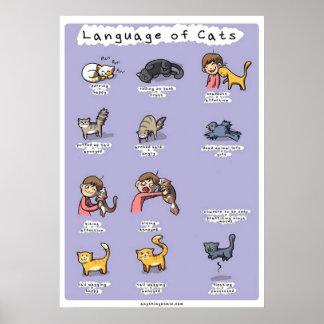 språk av katter poster
