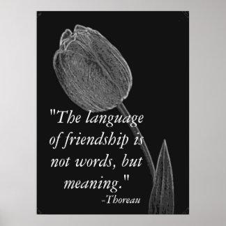 Språk av vänskapaffischen poster