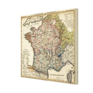 Språklig karta av frankriken canvastryck
