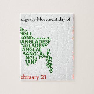 Språkrörelsedag av Bangladesh på Februari 21 Pussel