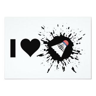 Sprängmedlet älskar jag Badminton 12,7 X 17,8 Cm Inbjudningskort