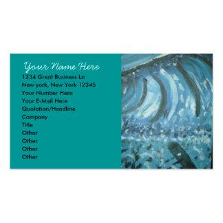 Sprej av hav set av standard visitkort