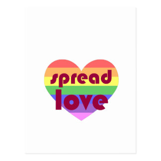 Spridd glad kärlek vykort