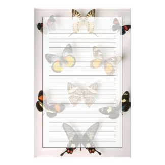 Spridda fjärilar brevpapper