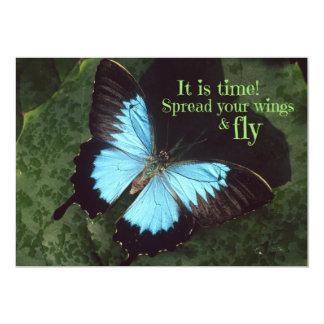 Spridning din vingar och klipska fjäril 12,7 x 17,8 cm inbjudningskort