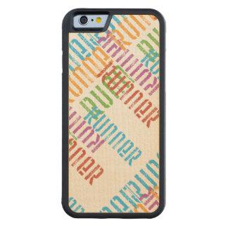 Springa av variation - färgrikt spring carved lönn iPhone 6 bumper skal