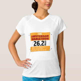 Springer för personligAmsterdam maraton, 26,2 T-shirts