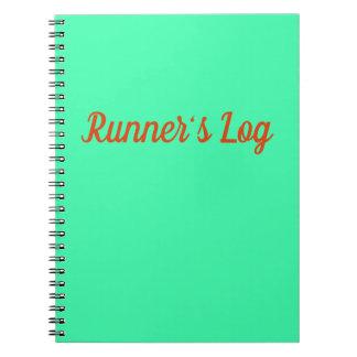 Springer loggar den rinnande journalen för anteckningsbok med spiral