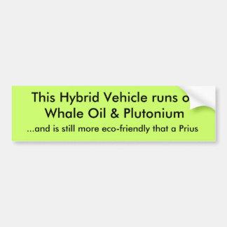Springor för detta hybrid- fordon på valolja & Plu Bildekal