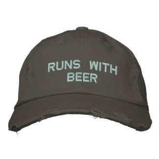 Springor med öl! Dricka hatten för partygrabben Broderad Keps