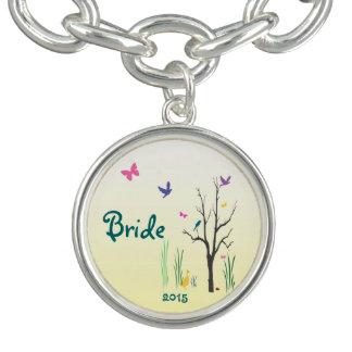 Springtimebröllopmöhippa Berlockarmband