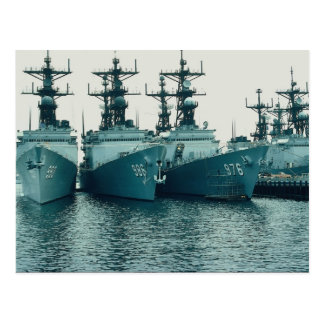 Spruance klassificerar jagare, NAV STA, San Diego, Vykort