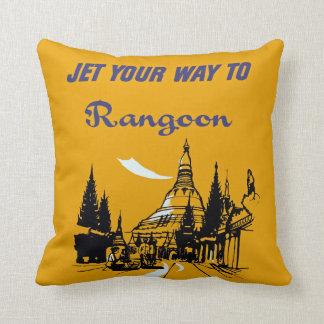 Spruta ut ditt långt till Rangoon Kudde