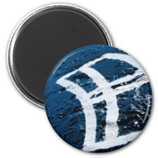 Sprutmåla grafittifönstret magnet rund 5.7 cm