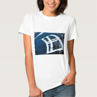 Sprutmåla grafittifönstret tee shirt