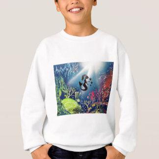 Sprutmålningsfärgkonstsjöjungfru i hav tee shirts
