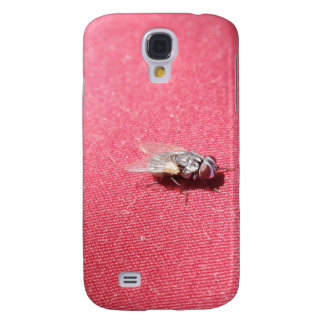Spyflugainsekt på rött galaxy s4 fodral