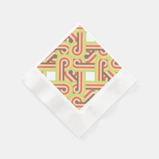 Square fodrade kretsar pappersservett
