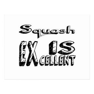 Squash är utmärkt vykort