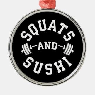 Squats och Sushi - Carbs och lägger benen på Julgransprydnad Metall