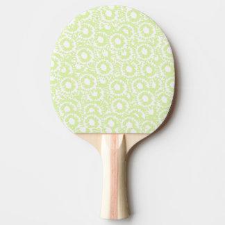Squigglesblek - grönt- och vitpingpong utrustar pingisracket