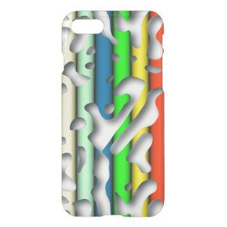 Squiggly kretsar seamless mönster 07 + din backgr. iPhone 7 skal