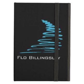 Squiggly Lines_aqua blått på svartpersonlig iPad Air Skydd