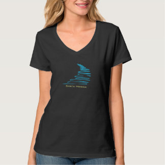 Squiggly Lines_Aqua Glow_Santa Monica T Shirt