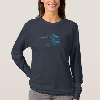 Squiggly Lines_California Dreamin'_Aqua T-shirts