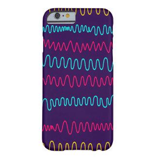Squiggly linjer för abstrakt purpurfärgad bakgrund barely there iPhone 6 skal