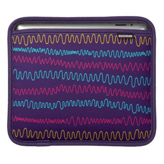 Squiggly linjer för abstrakt purpurfärgad bakgrund iPad sleeve