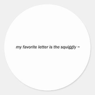 squiggly runt klistermärke