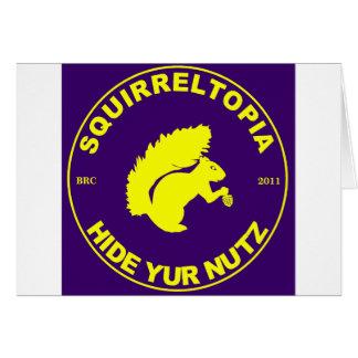 Squirreltopia-symbol Hälsningskort