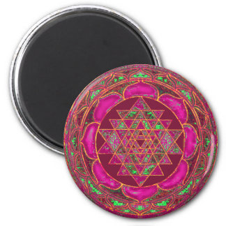 Sri Lakshmi Yantra Mandala Magnet Rund 5.7 Cm