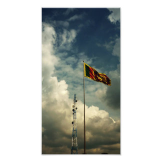 Srilankesisk flagga fotografiskt tryck
