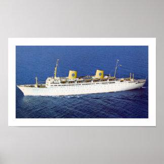 SS Gripsholm på havet Poster